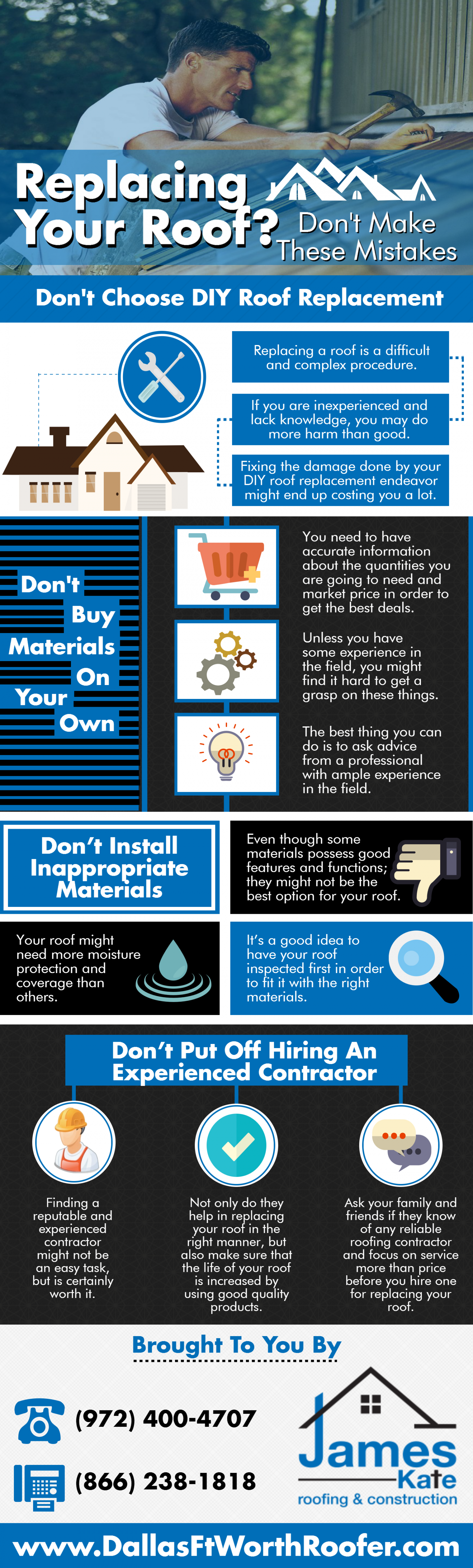 Replacing your roof? Infographic