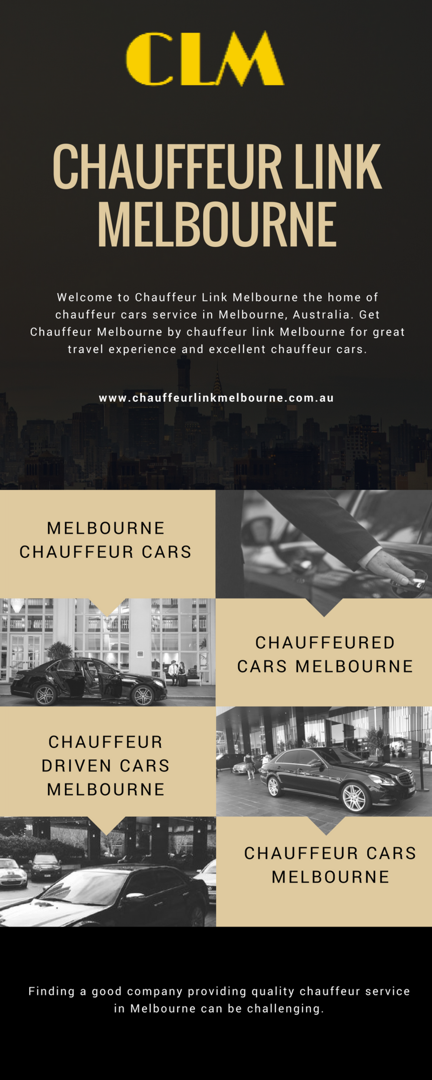 Reserve Chauffeur Cars in Melbourne Infographic