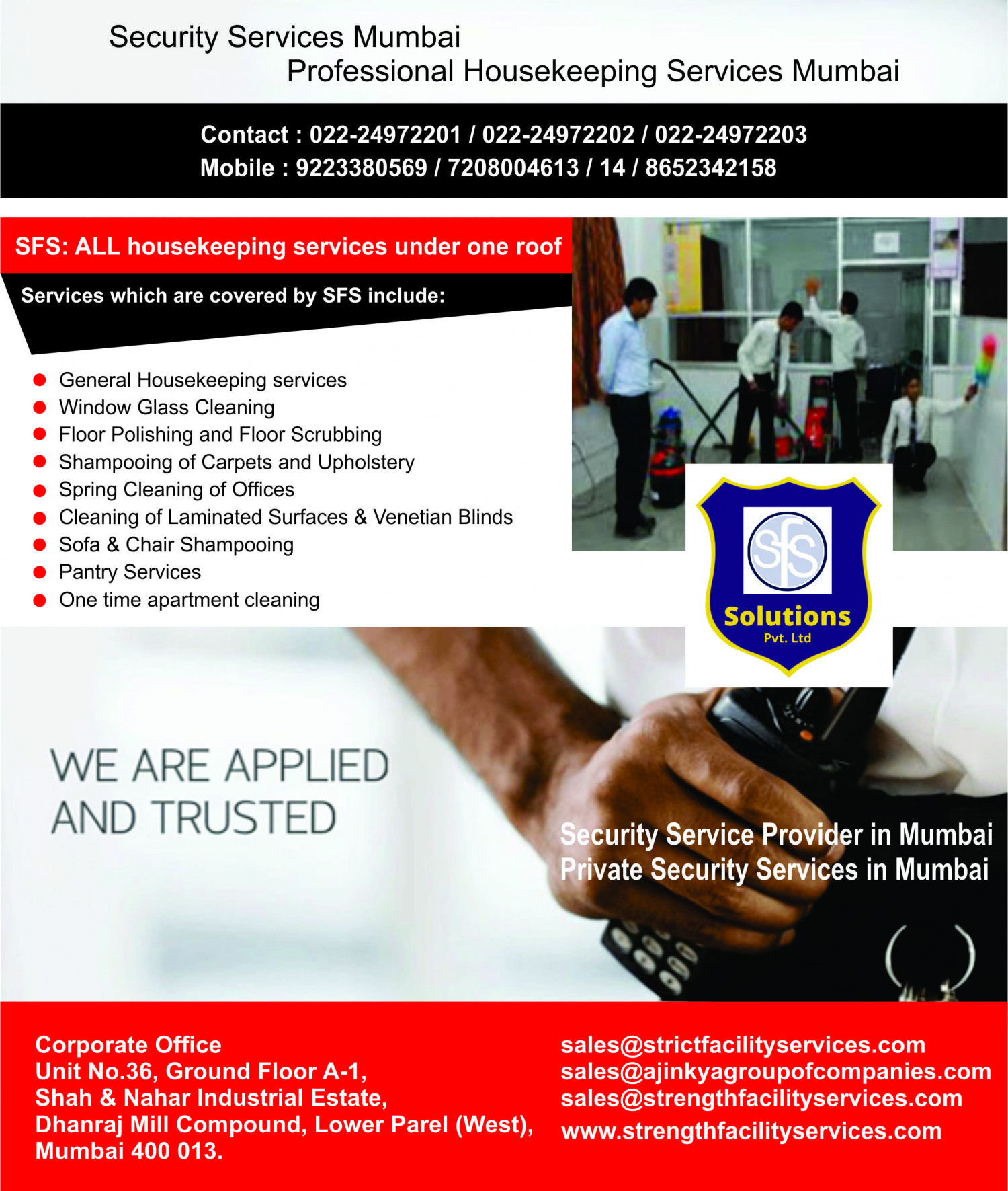 Residential security and housekeeping services in mumbai Infographic