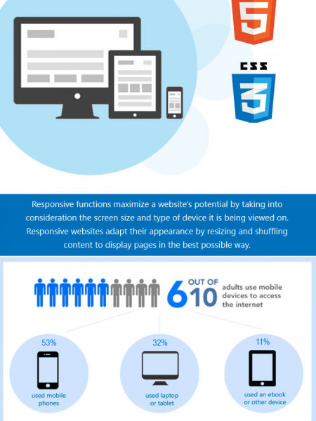 Responsive Website Designing and Developing Infographic