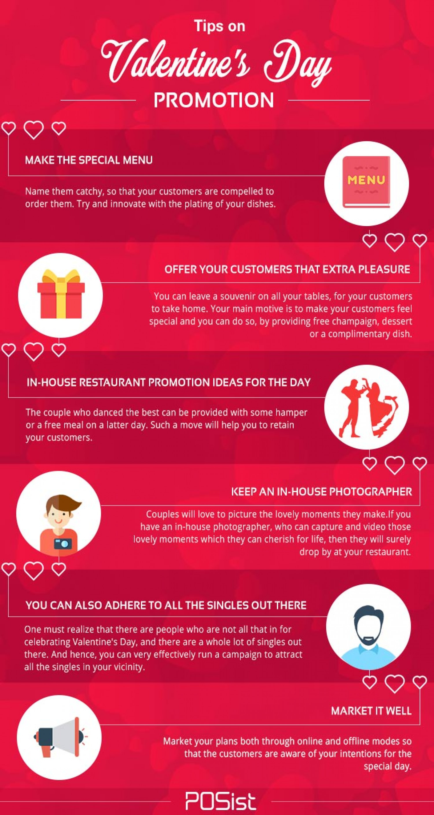 Restaurant Promotion Ideas for Valentine's Day Infographic