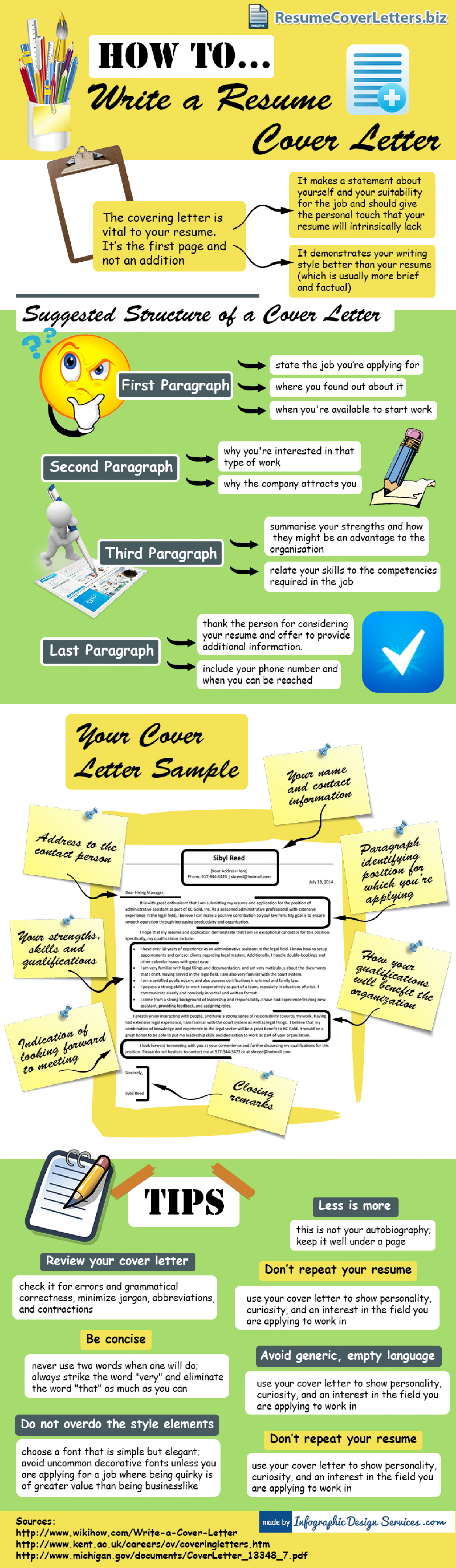 Resume Cover Letter Writing Tips Infographic  Tips For A Resume