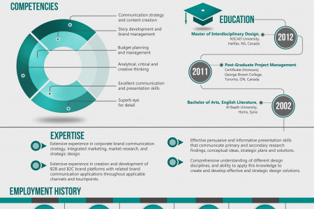 Resume of brand strategist 2 Infographic