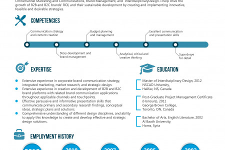 Resume of Brand Strategist Infographic