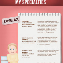 resume of corporate sales manager 2nd version visual ly