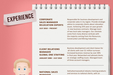 Resume of Corporate Sales Manager (2nd version) Infographic