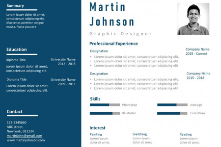 Resume PowerPoint Template Professional Detailed Infographic
