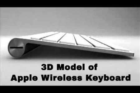 Review of 3D Model of Apple Wireless Keyboard Infographic