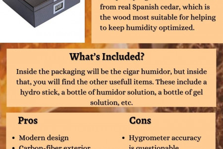 Review on Top Humidor By Case Elegance | Best Cigar Humidors Infographic