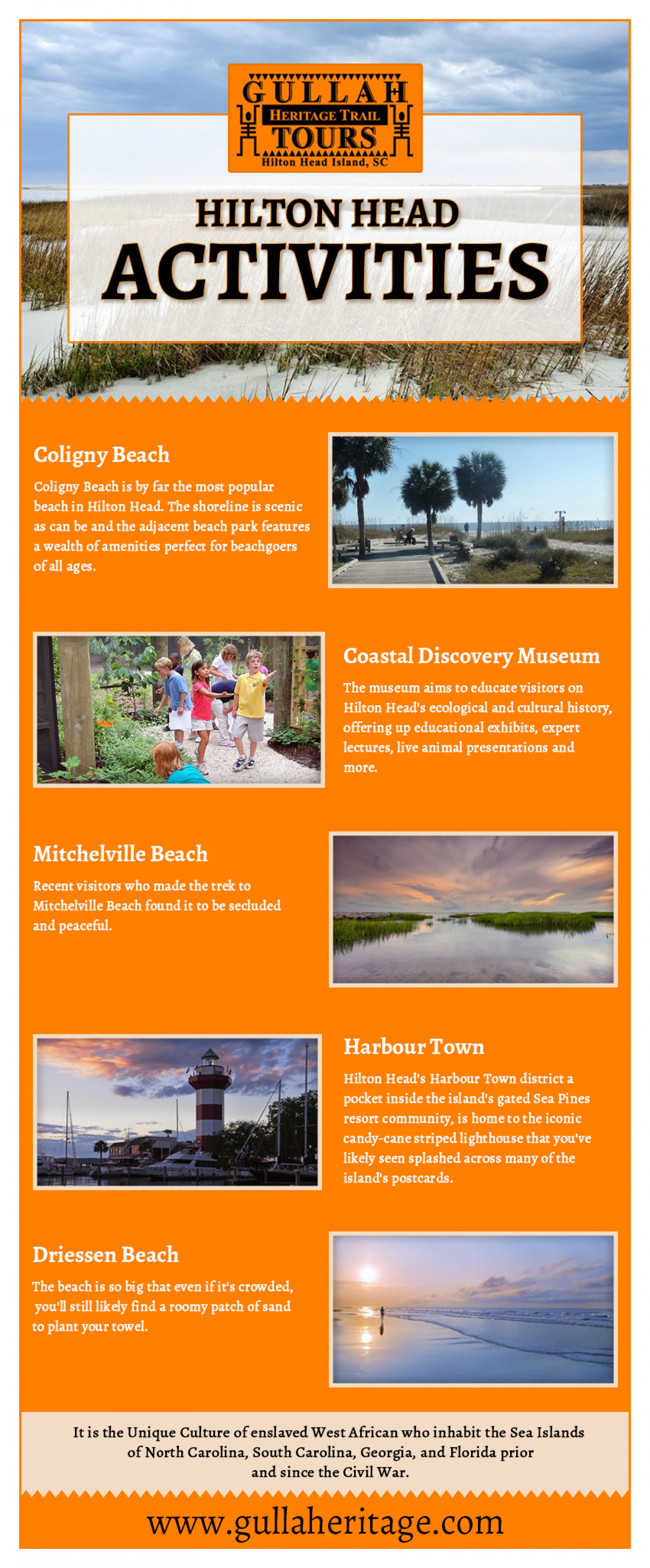 Revisit History at Gullah Geechee Infographic