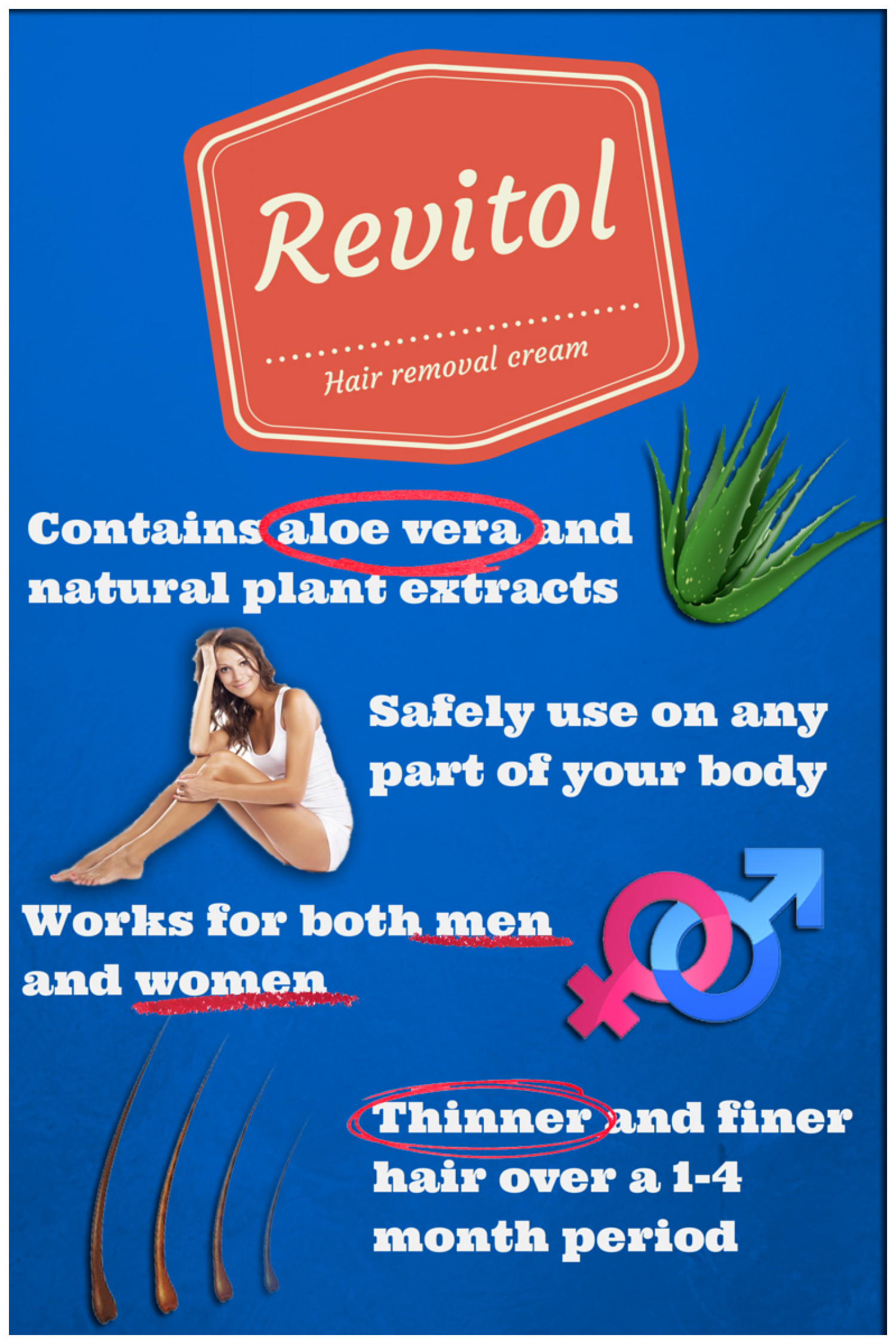 Revitol Hair Removal Cream Infgraphic Visual Ly