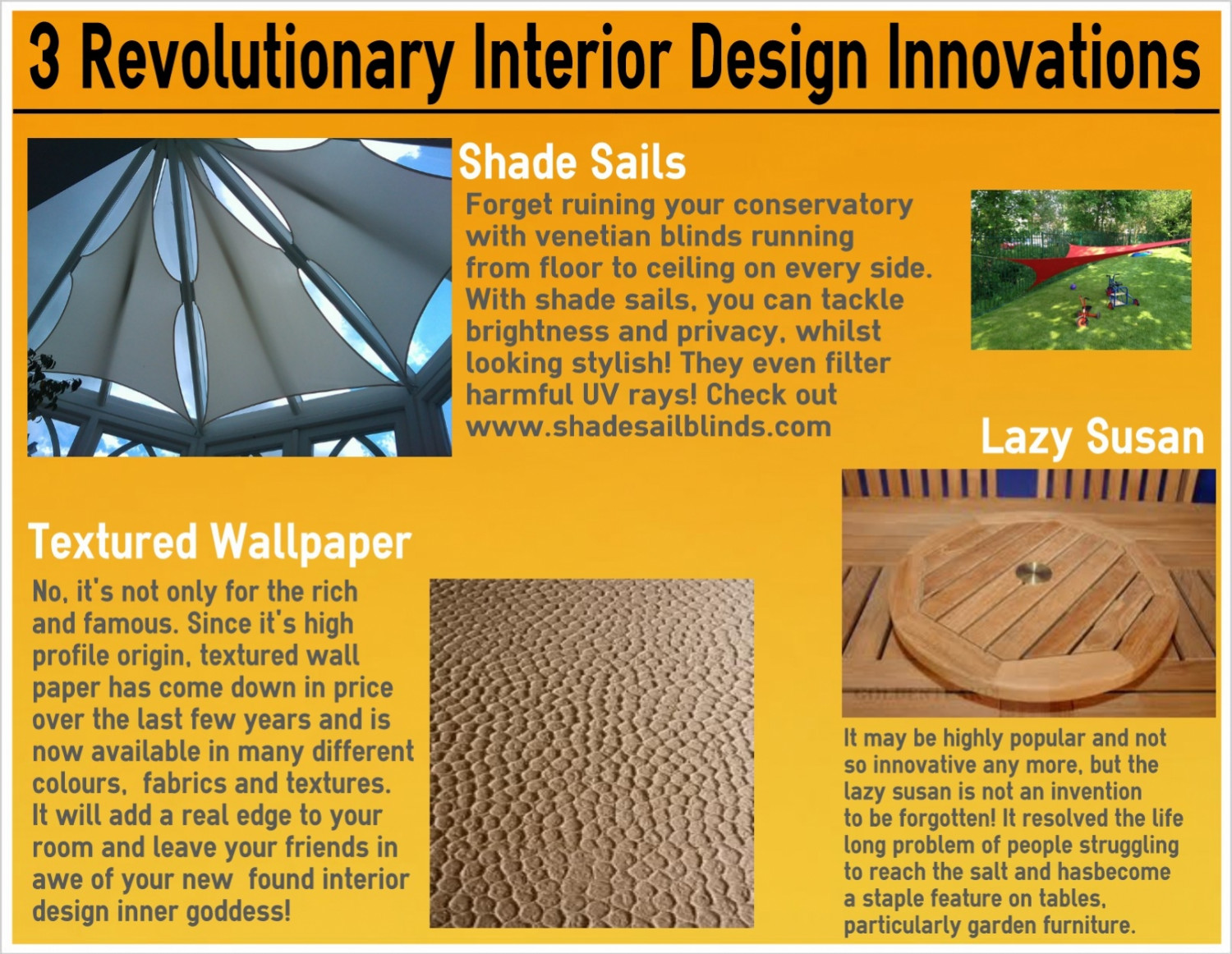 Revolutionary Interior Design Products Infographic