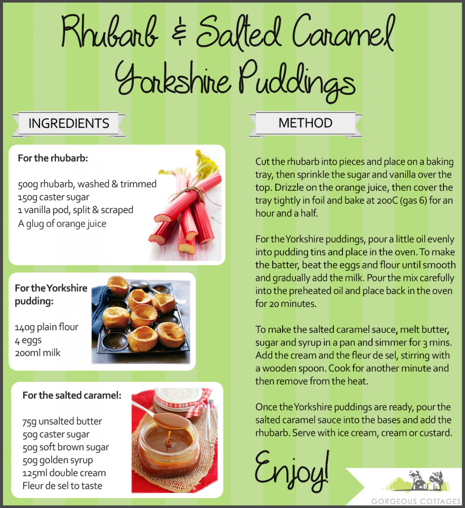 Rhubarb and Salted Caramel Yorkshire Puddings Infographic