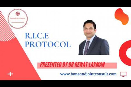 R.I.C.E Protocol |Best Sports injury treatment in Bangalore| Dr Rewat Laxman | Bone and Joint Consult Infographic