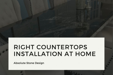 Right Countertops Installation at Home | Absolute Stone Design Infographic