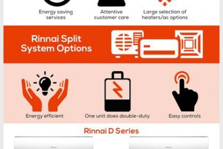 Rinnai Split System Options - D Series and G Series Infographic