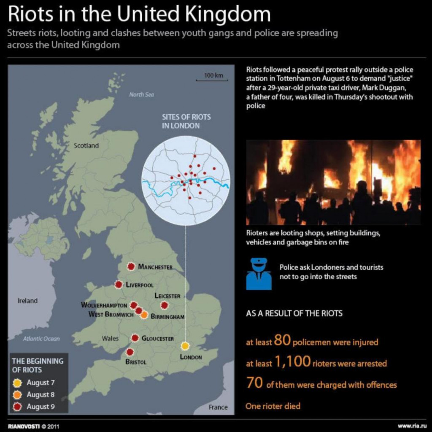 Riots in the United Kingdom Infographic