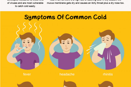 Risks of getting common cold Infographic