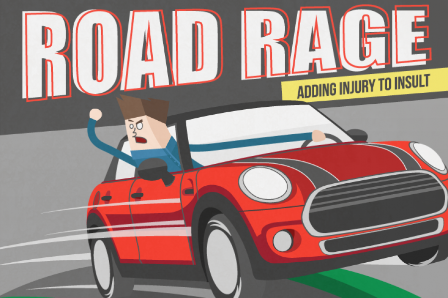 Road Rage- Adding Insult To Injury Infographic