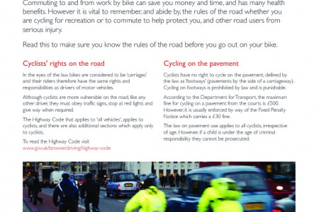Road Safety Advice for Cyclists Infographic