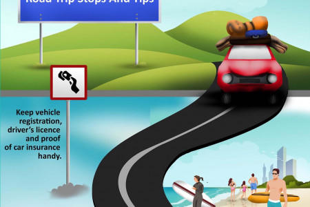 Road Trip Stop and Tips  Infographic