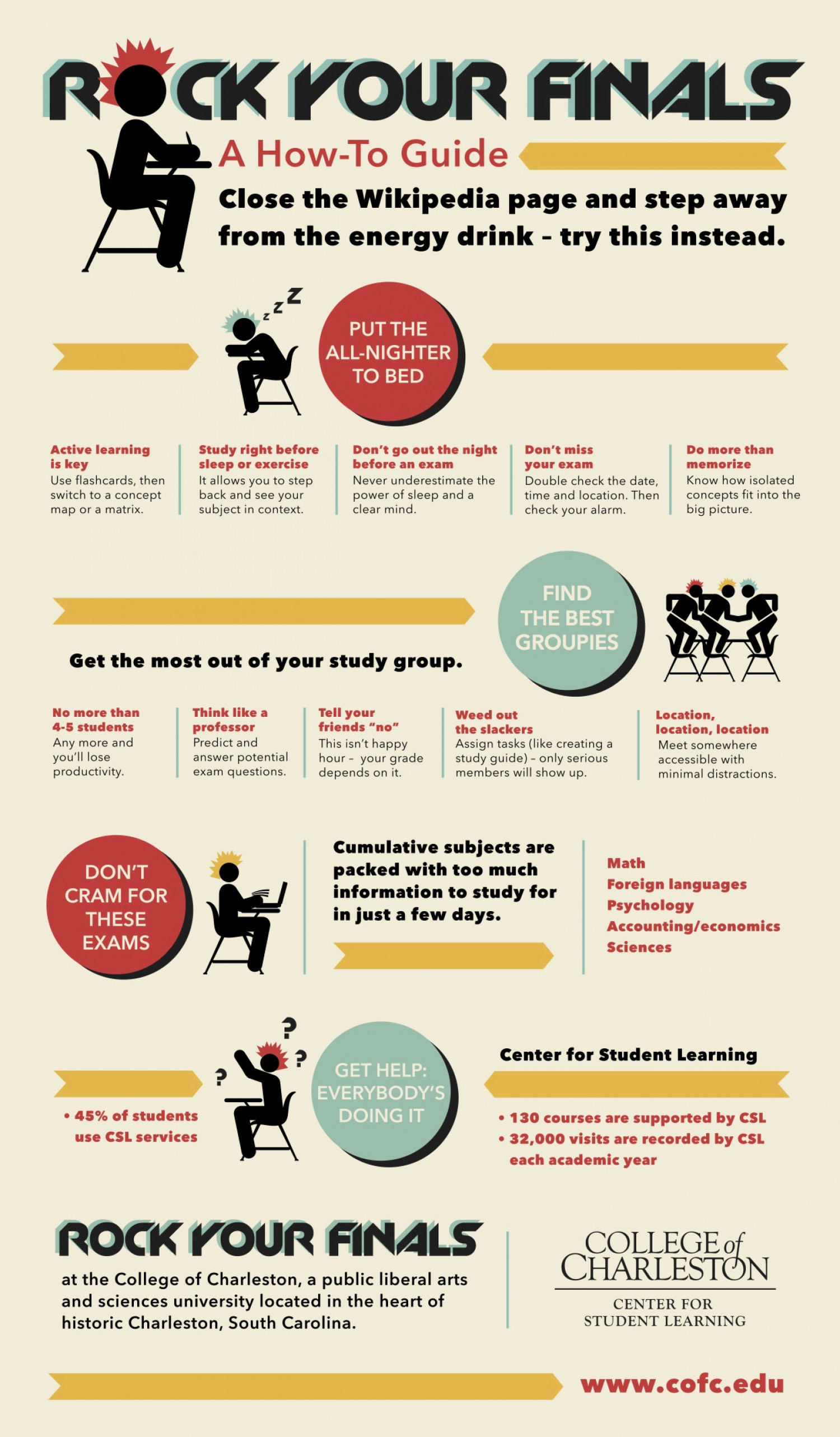 Rock Your Finals - a How-To Guide Infographic
