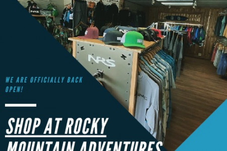 Rocky Mountain Adventures: River Sports Shop and Services Infographic