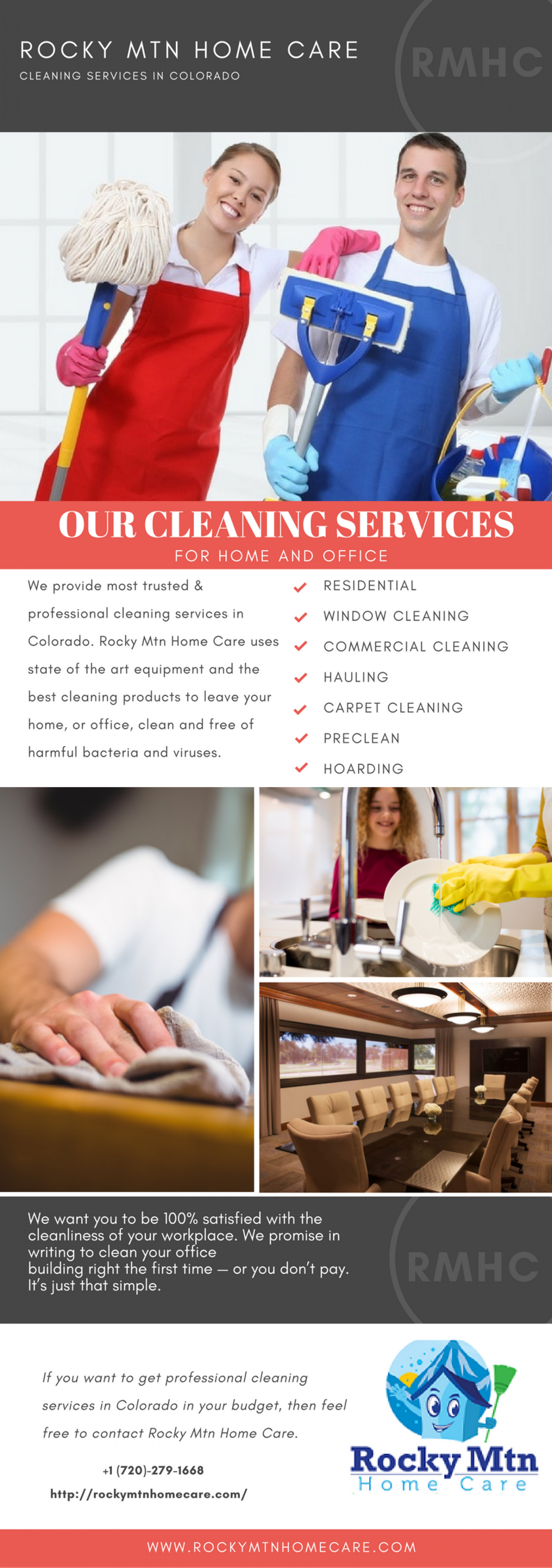 Rocky Mtn Home Care | Cleaning Service in Denver, CO Infographic