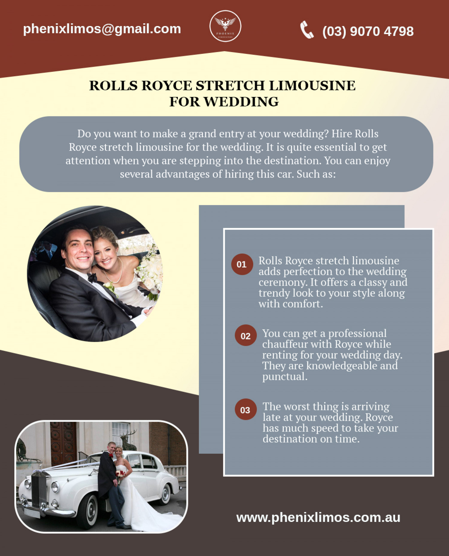 Rolls Royce Stretch Limousine for Wedding Infographic
