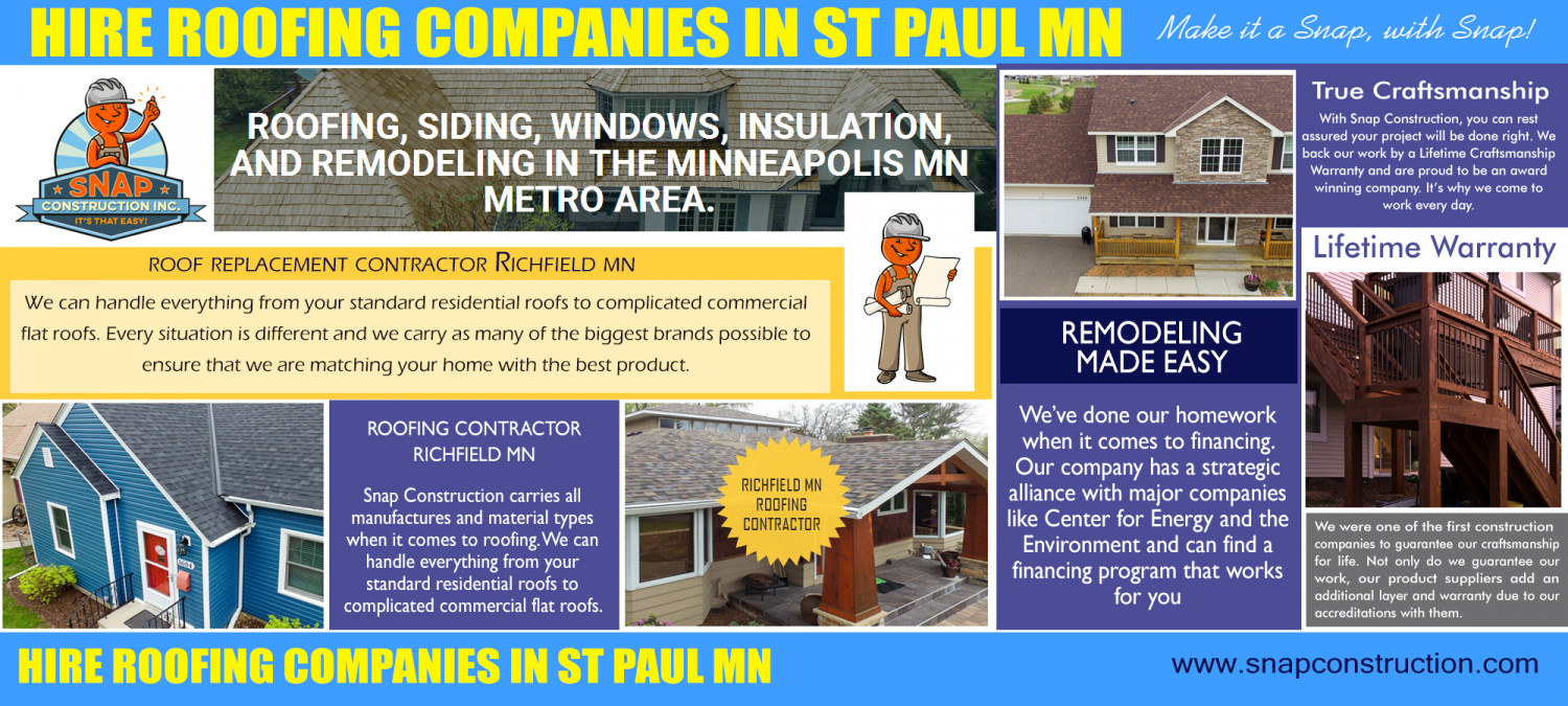 Roof Replacement Contractor Richfield MN Infographic