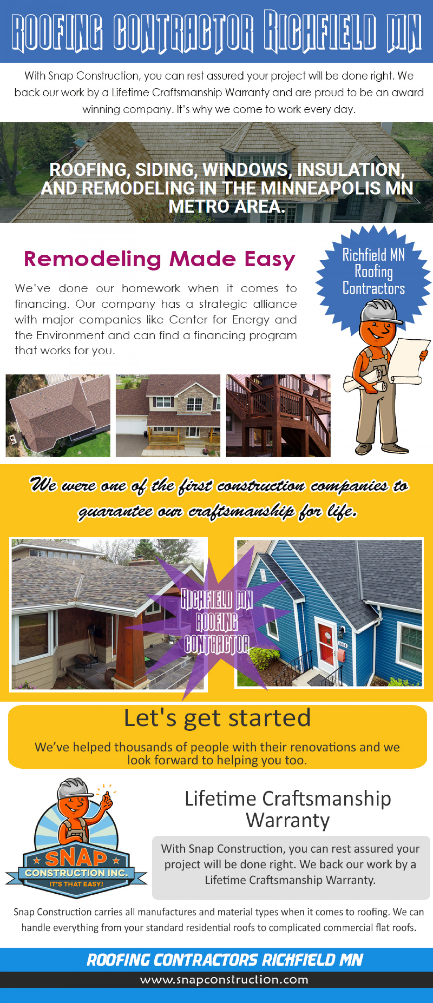 Roofing Contractor Richfield MN Infographic
