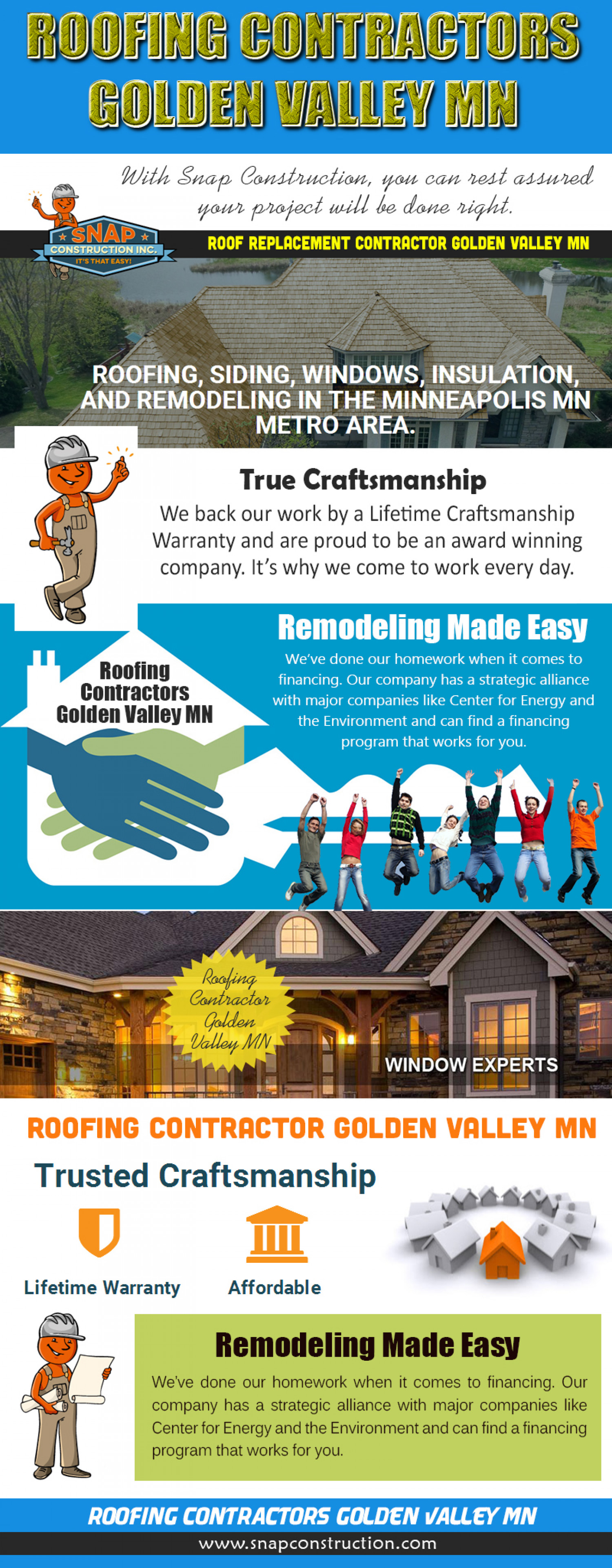 Roofing Contractors Golden Valley MN Infographic