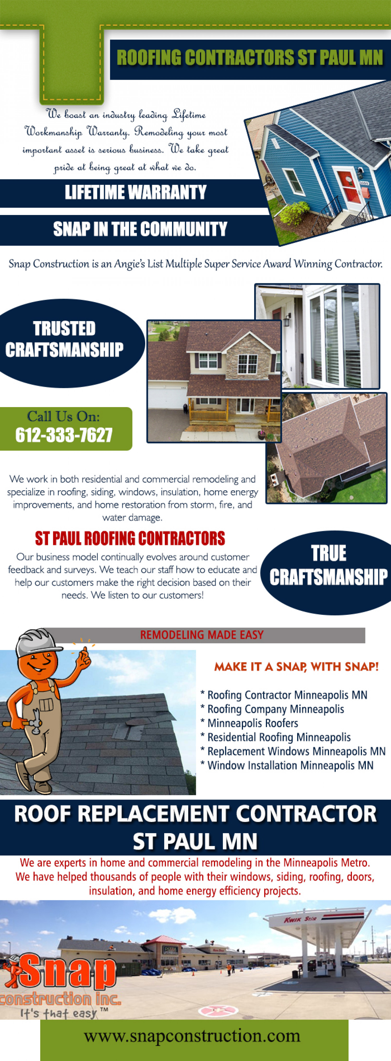 Roofing Contractors St Paul Mn Infographic