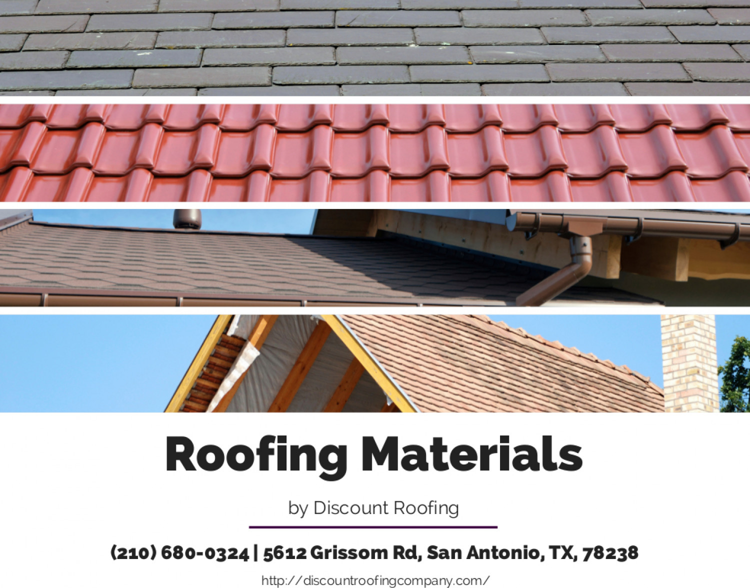 Roofing Materials Infographic