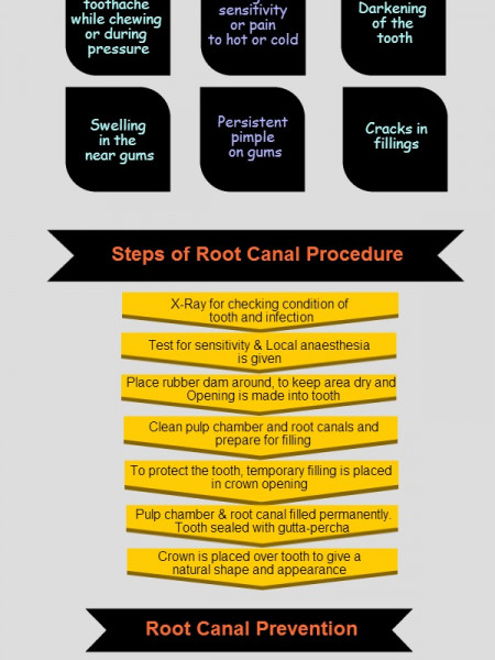 Root Canal – Need & Process Infographic