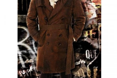 Rorschach Watchmen Leather Trench Coat  Infographic