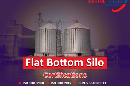 Rostfrei Steels Flat Bottom Silos - Suitable for Grain Storage Infographic