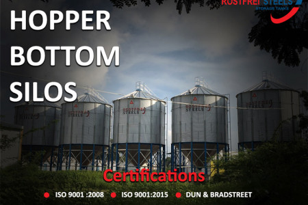 Rostfrei Steels Hopper Bottom Silo useful for Grain Storage Infographic