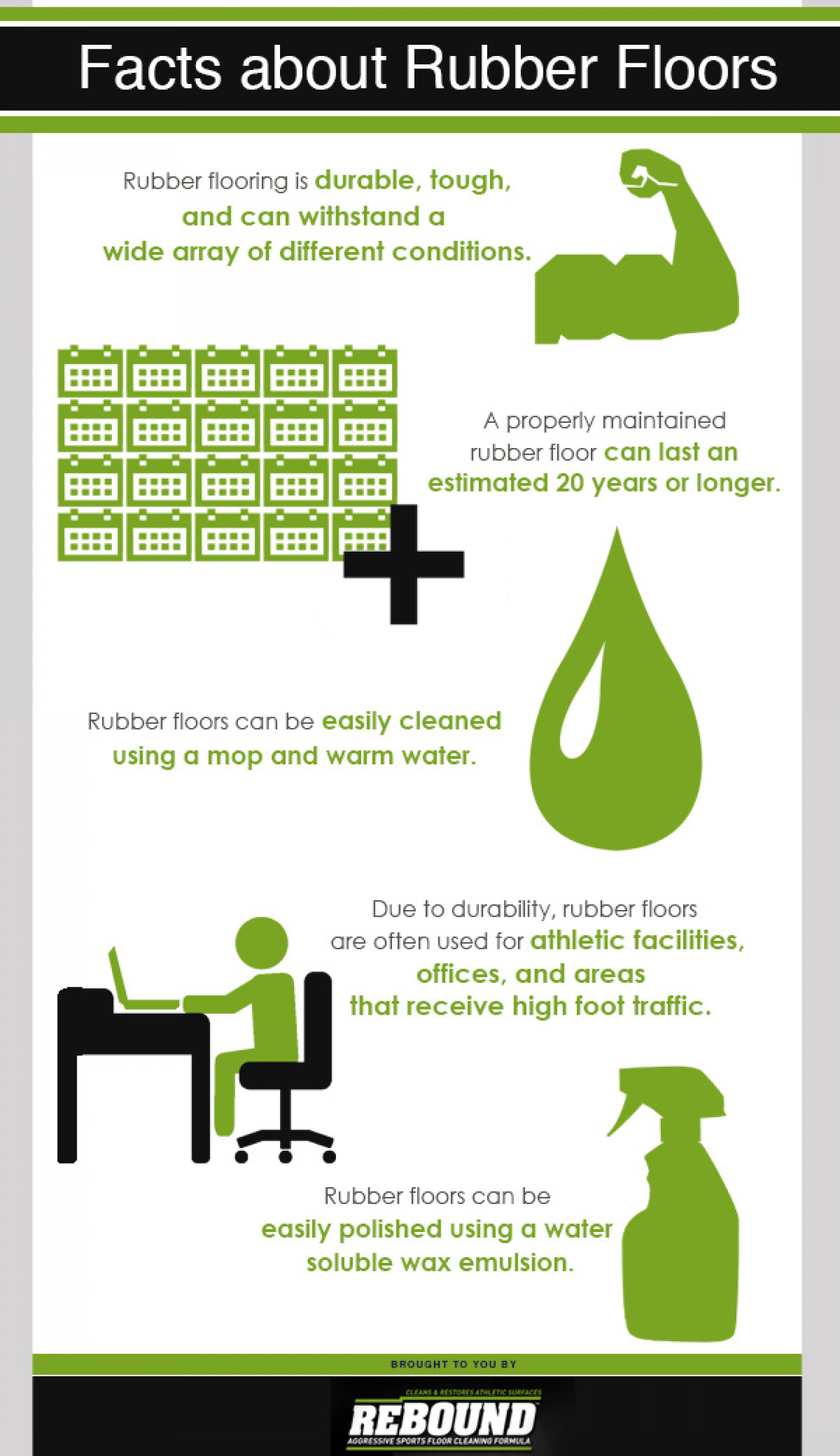 Facts About Rubber Floors Infographic
