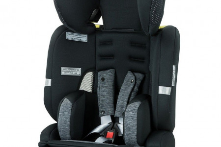 Safety 1st Prime AP Convertible Booster Seat - Grey Marle Infographic