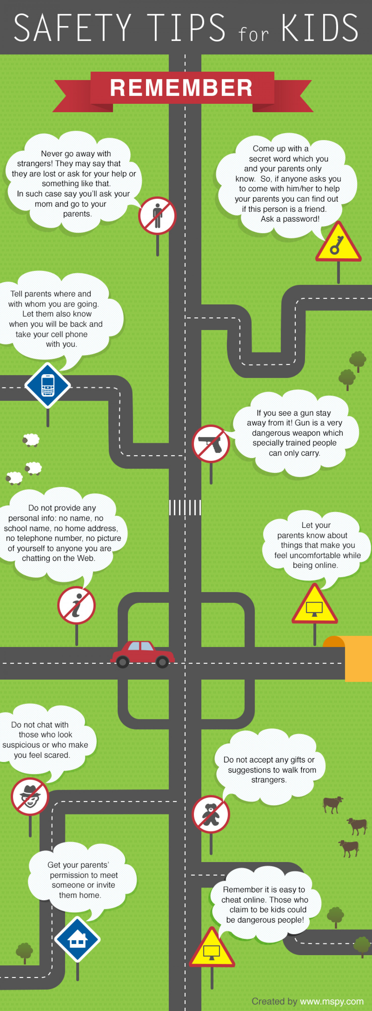 Safety Tips for Kids Infographic