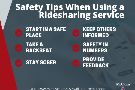 Safety Tips When Using a Ridesharing Service Infographic