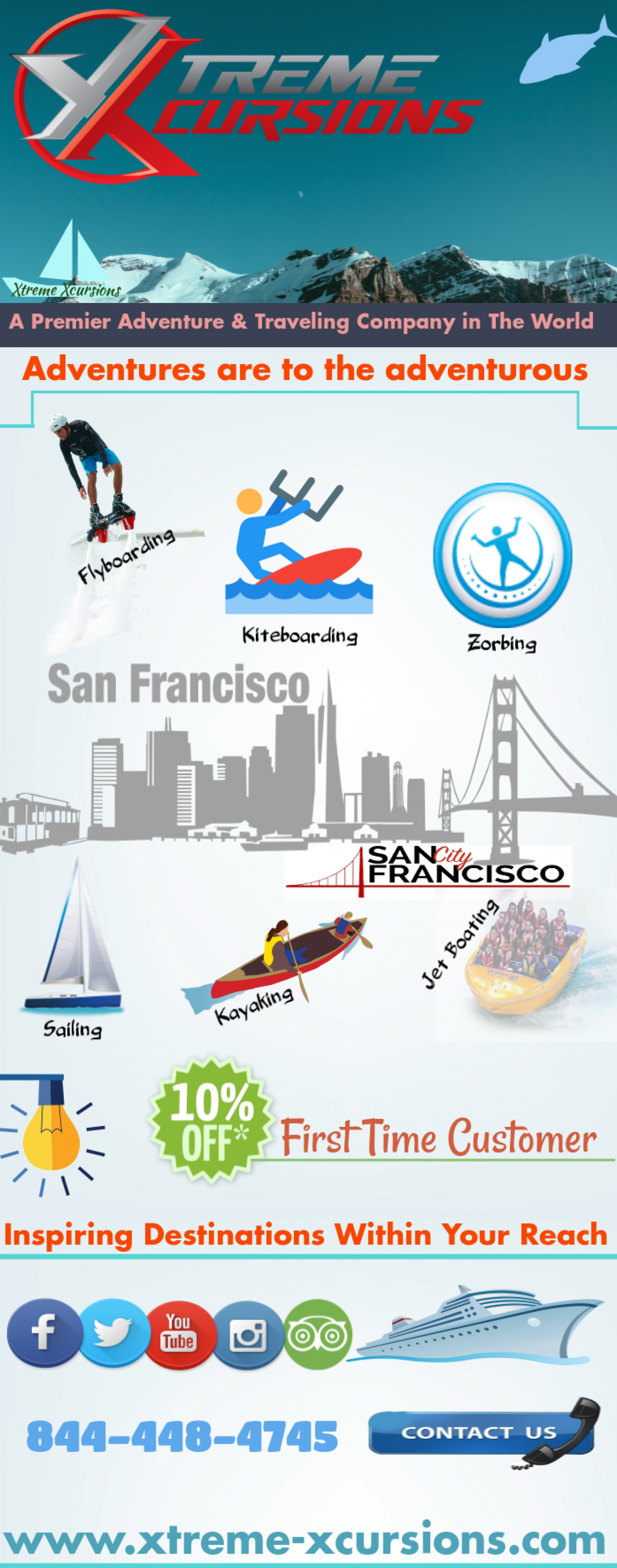 Sailing San Francisco - Xtreme Xcursions Infographic