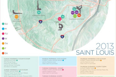 Saint Louis Outdoor Yoga Infographic