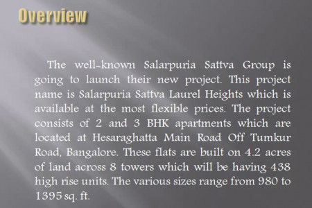 Salarpuria Sattva Laurel Heights booking form Infographic
