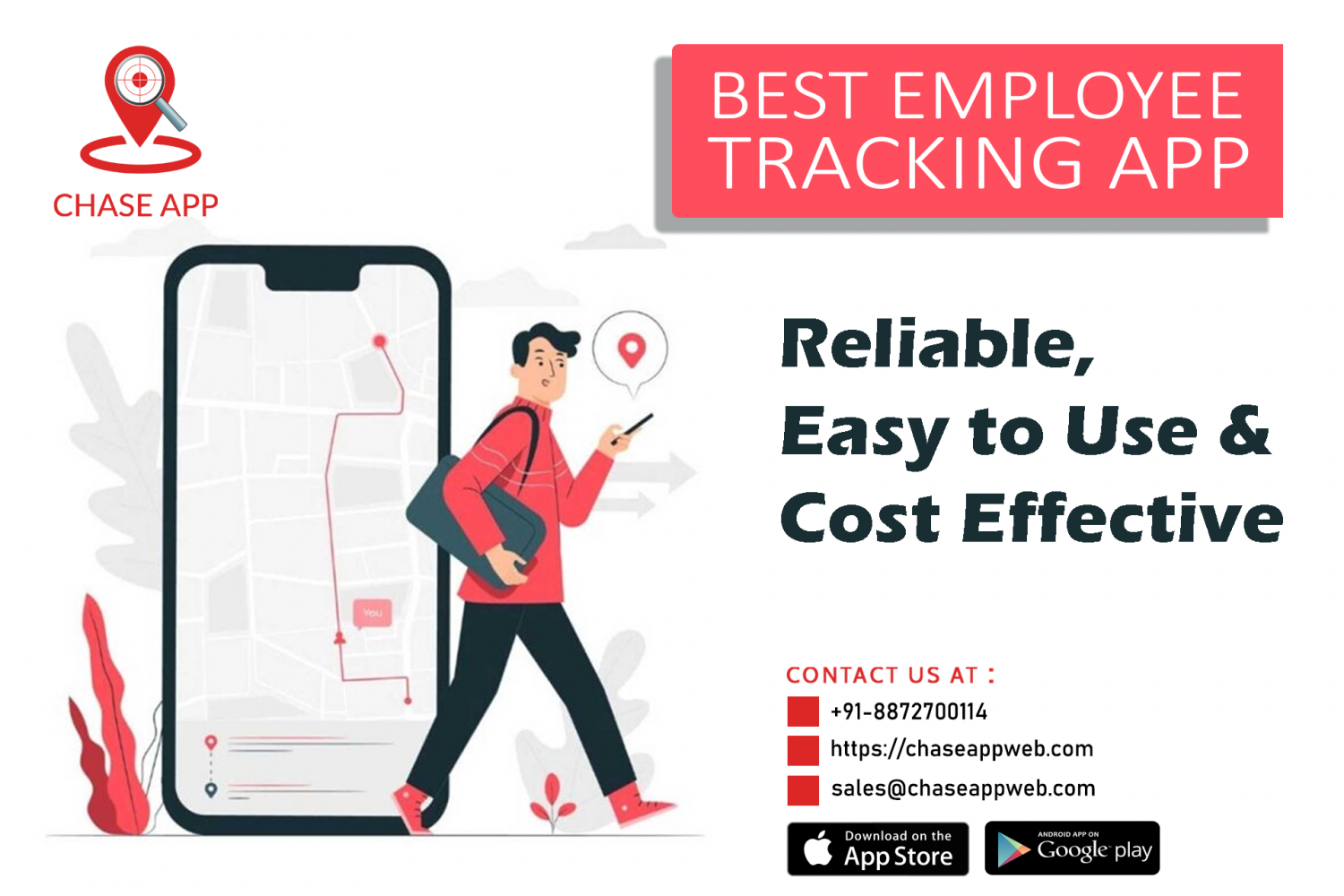 Sales Executive Tracking App Infographic