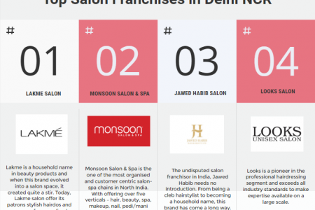 Salon Franchises in Delhi - NCR Infographic
