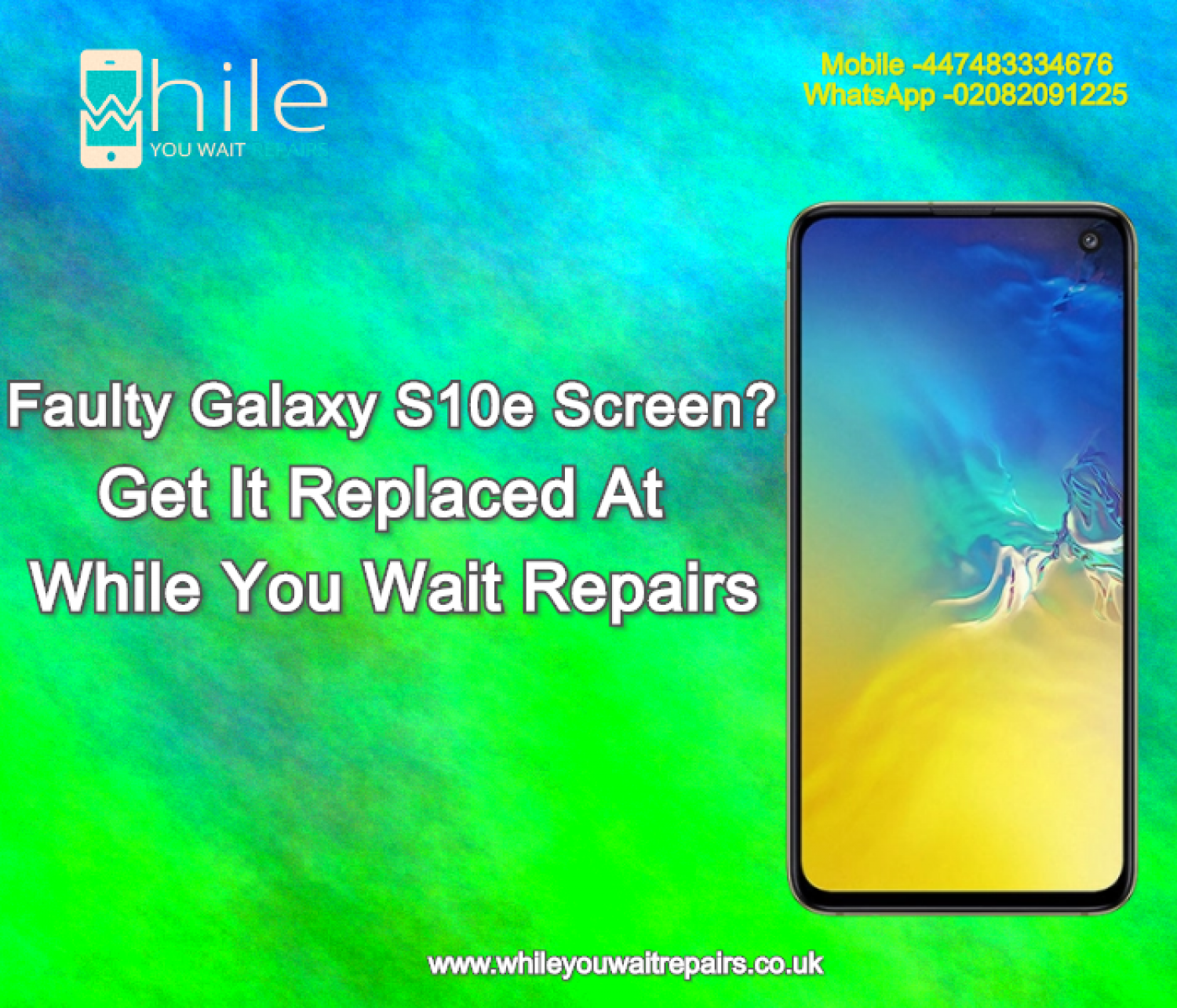 Same Day Galaxy S10e Cracked Screen Repair Service London Infographic