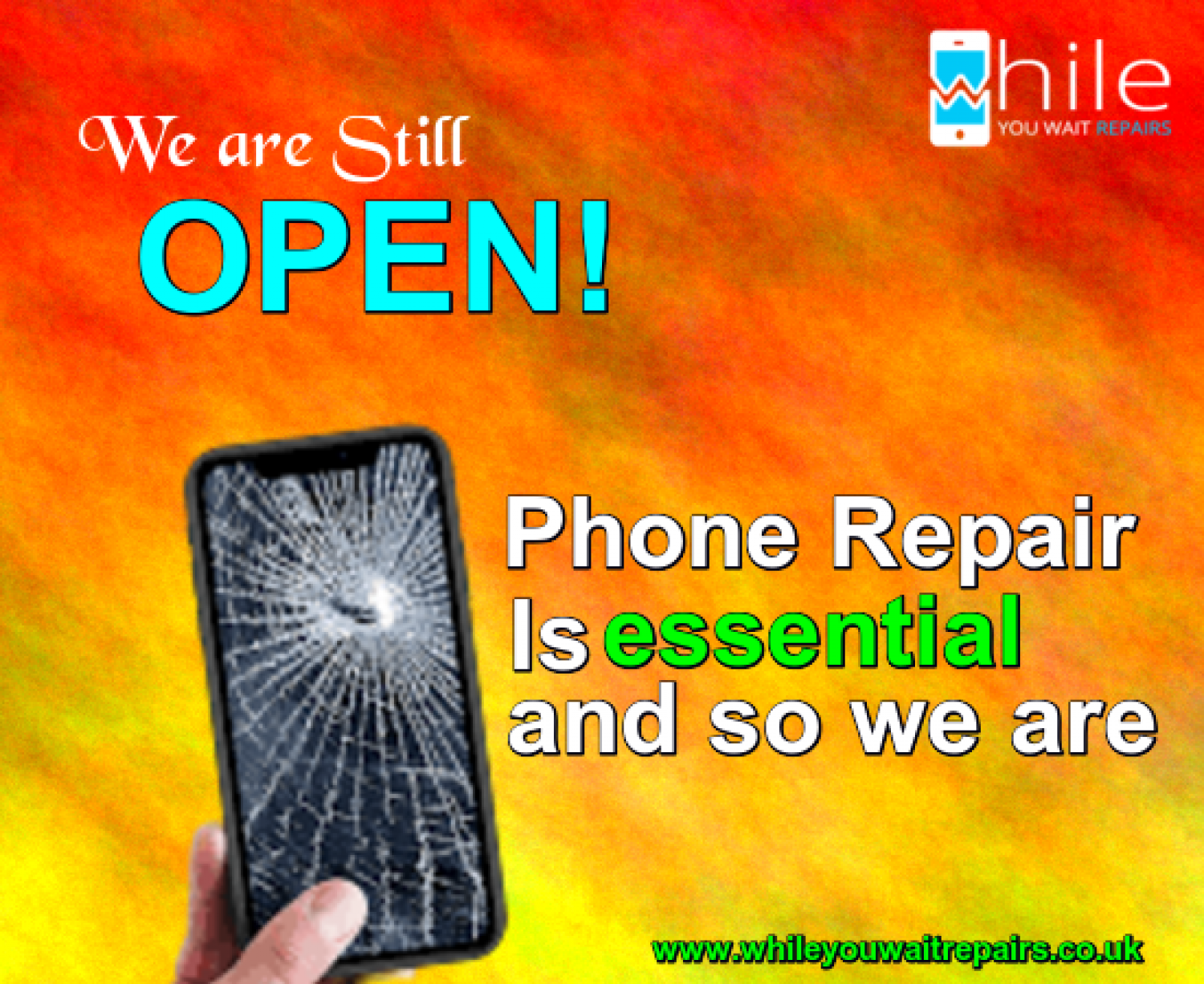Same Day Mobile Phone Repair Service London Infographic