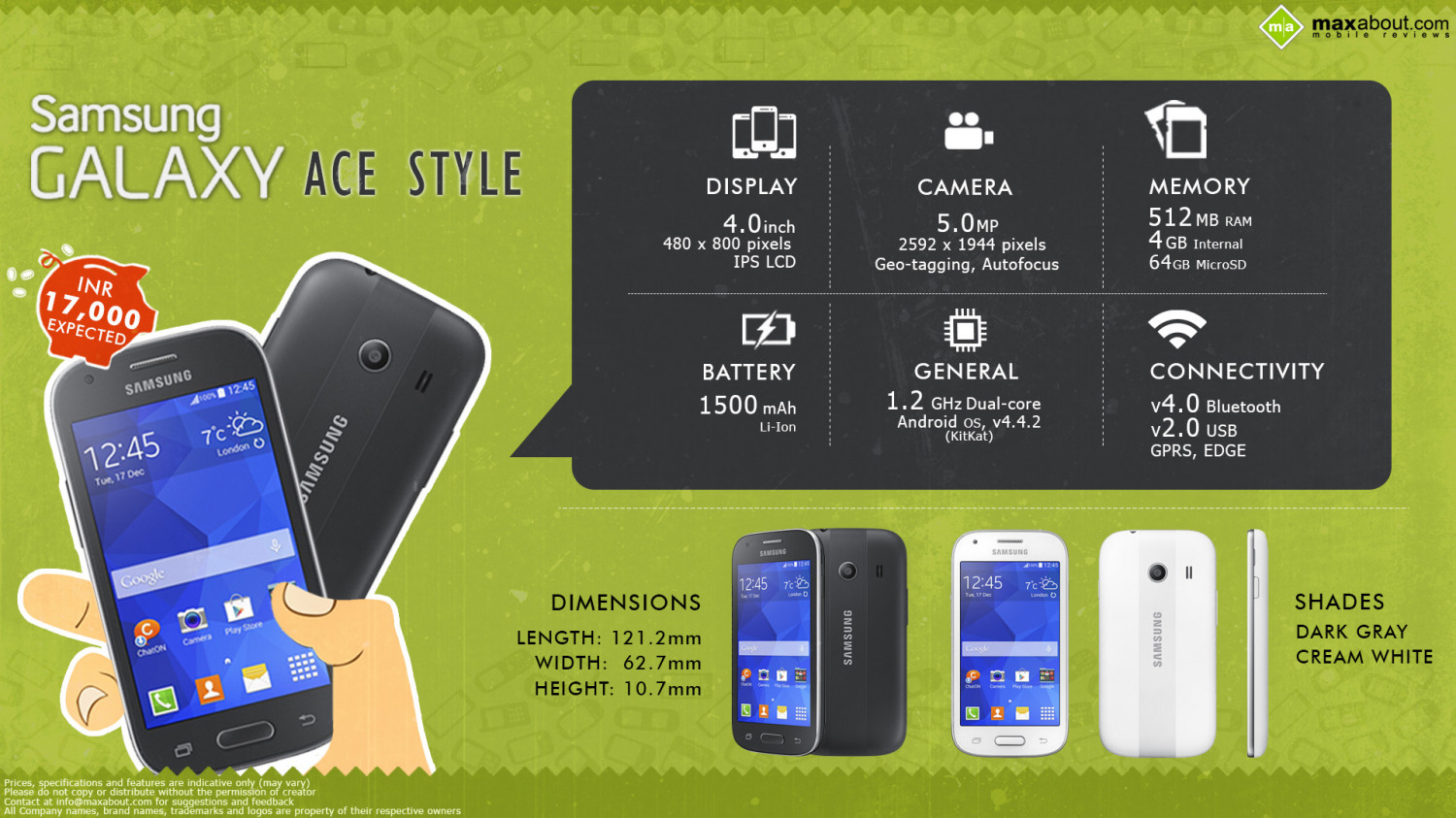 Samsung Galaxy Ace Style: Powerful and Expressive Smartphone Infographic